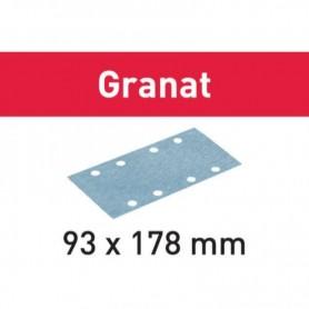 Festool - 498941 -  Hoja de lijar STF 93X178 P280 GR/100 Granat - 1