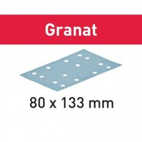Festool - 497204 -  Hoja de lijar STF 80x133 P280 GR/100 Granat - 1