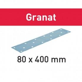 Festool - 497164 -  Hoja de lijar STF 80x400 P320 GR/50 Granat - 1