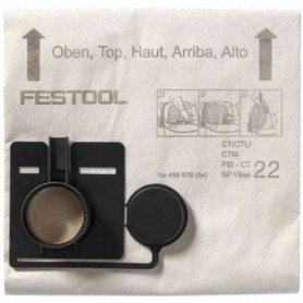 Festool - 456870 -  Bolsa filtrante FIS-CT 22 SP VLIES/5 - 1